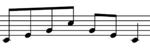楽譜上のアルペジオ