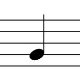 音符と五線のみの画像