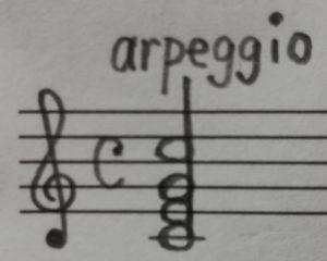 アルペジオの略記②