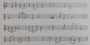 聴音ソルフェージュの見本画像