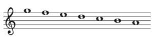 旋律短音階の下行形