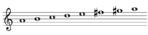 旋律短音階の上行形