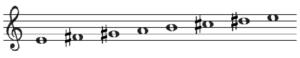 ホ長調の音階