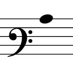 バリトン記号の画像