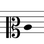 メゾ・ソプラノ記号の画像