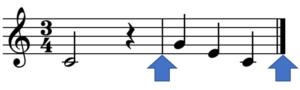 小節線の例