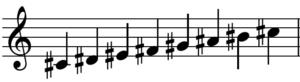 嬰ハ長調の音階